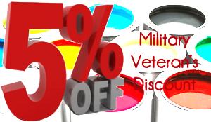 5% Military and Veteran Discount