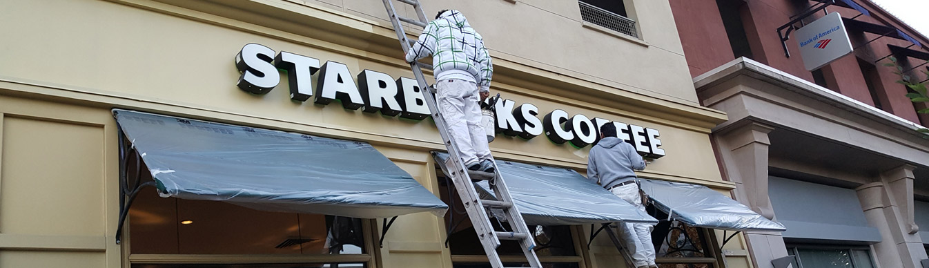 Starbucks Commercial Painting